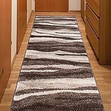 Alfombra De Pasillo Moderna Colección Calm - Color Marrón Beige De Diseño Arena - Mejor Calidad - Diferentes Dimensiones S-XXXL 80 x 250 cm