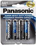 16pc Panasonic AA Batteries Super Heavy Duty Power Carbon Zinc Double A Battery 1.5v