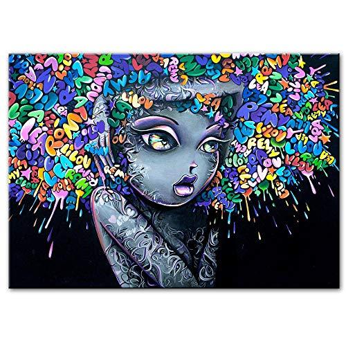 Lovely Girls Graffiti Art Toile Peintures Sur Le Mur Photos...