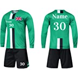 Personalised Football Shirt Mens Women Custom Football Kits for Kid Adults with Name Number Team Logo