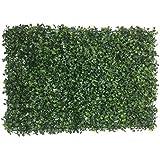 Artificial Vertical Garden , Gardening Mat / Mats With Artificial Leaves For Vertical Gardening, Covering Roof, Cover Wall, Wall Decor, Garden Decor, Home Decoration (Pack Of 12) By PartyHut®