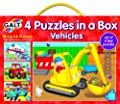 Galt Toys Puzzles in a Box Vehicle (Pack of 4)