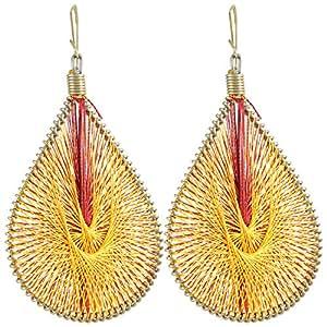TY BoutiqueHandmade Silk Thread Yellow Earring