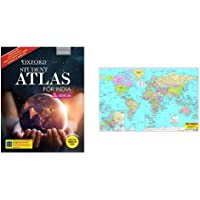 Oxford Student Atlas for India - Third Edition + World Map (Set of 2 Books)