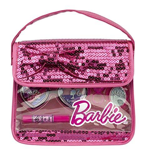 Mattel-barbie Mattel Barbie Geschenk-Set in stylischer Beauty-Pailletten-Tasche mit Glitzer (Eau de Toilette 30 ml, Kosmetiktäschchen)