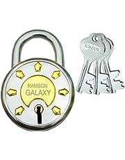 RAMSON Galaxy Steel 8 Levers Double Locking 3 Keys Lock (65 mm)