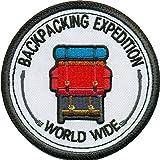 Backpacking Expedition World Wide Rucksack Traveler Aufnäher Abzeichen Patch