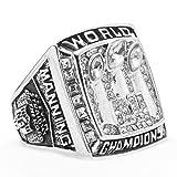 LANCHENEL Titan Stahl Herren 2007 New York Giants Meisterschafts Ringe,Größe 62(19.7)