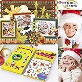 600 Stück Weihnachtsaufkleber Tätowierungen,10 Blätter Haice Weihnachtssticker,Weihnachten Aufkleber Neujahr,Party Favors für Erwachsene Kinder,Weihnachtssticker XMAS, Weihnachtskarten