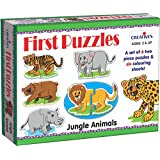 Creative's First Puzzles - Jungle Animals, Multi Color