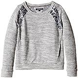 Tommy Hilfiger Mädchen Sweatshirt, Uni Gr. 164, Grau - Grau (Hellgrau meliert)