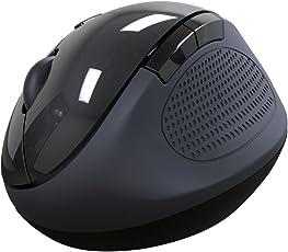 Portronics Por-689 Puck Ergonomic Wireless Mouse With Optical Sensor - Black