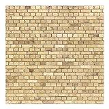 Vliestapete–Ziegel Effekt Tapete–Pale Brick Wall–Wandbild quadratisch