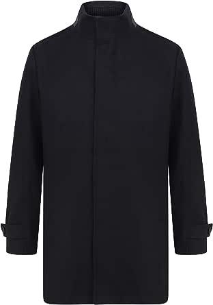Tokyo Laundry Men's Byrne Funnel Neck Wool Rich Overcoat