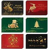 24 Pezzi,Biglietto Auguri Natale con Buste e Adesivi,Biglietti di Buon Natale Assortiti,Divertenti Cartoline di Natale,Cartol