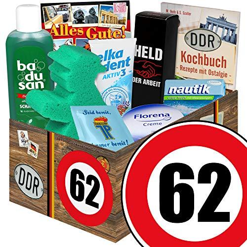 62. Geburtstag | DDR Pflege Box | mit Florena Creme, Badusan und mehr | Pflege Set DDR