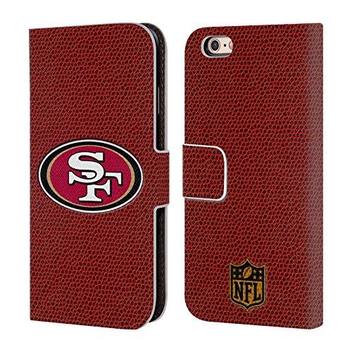 Offizielle NFL Helm San Francisco 49Ers Logo Brieftasche Handyhülle aus Leder für Apple iPhone 5 / 5s / SE Fussball