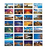 Beautiful World Travel Scenery 30 PCS Artistic Retro Postkarten # B