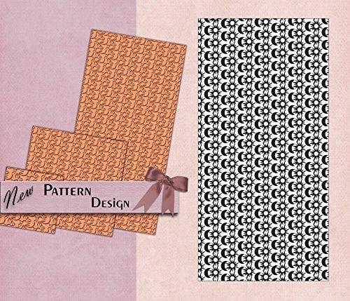 PrintValue Sonne & Mond Polymer Textur Stempel Flexible Gummi Vorlage Für Den Einsatz Schule, Stoff, Papier, Metall Ton (Gummi-stempel Sonne)