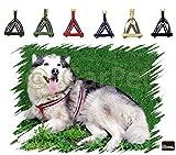 Hunde Baumwolle Geschirr verstellbares Hundegeschirr Brustgeschirr reflektierend (blau, Gr.1)