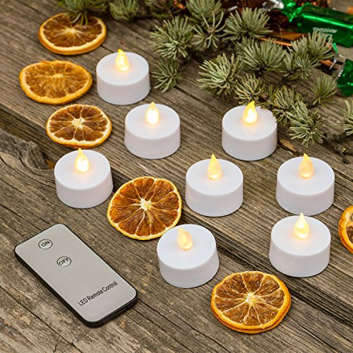 8 Tea Light a batteria, led bianco