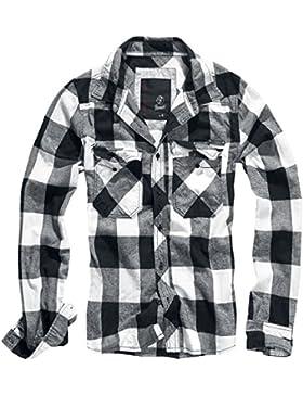 BRANDIT Check Shirt Weiss-Schwarz M