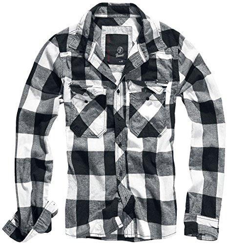 Brandit checkshirt camicia nero/bianco 5xl