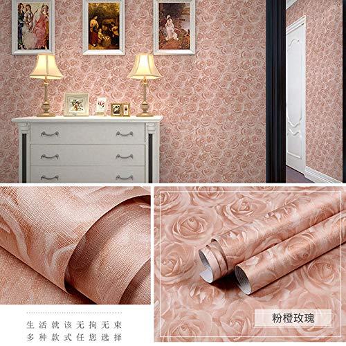 lsaiyy PVC Selbstklebende Tapete einfache Art und Weise Schlafzimmer Wohnzimmer Tapete Tapete-60CMX5M -