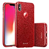 ZUSLAB Coque iPhone XS (2018) Coque iPhone X étui à Paillette, Structure Trois en...