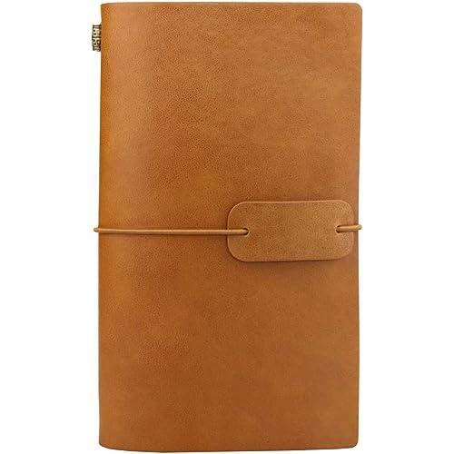 Diario di Viaggio in Pelle, Diario di Viaggio Taccuino in Pelle Sostituibile & Quaderno Vintage, Travel Journal Notebook, 4.72 X 7.87 lnch