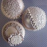 Katy Sue Designs Silikon-Prägematte, Motiv: Vintage-Rosen, für Tortendekorationen, Cupcakes, etc, 10,2x10,2cm
