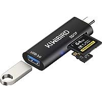 KiwiBird USB C SD Micro SD TF Kartenleser, Typ C auf USB 3.0 Adapter, SDHC SDXC Kartenlesegerät Kompatibel mit MacBook…