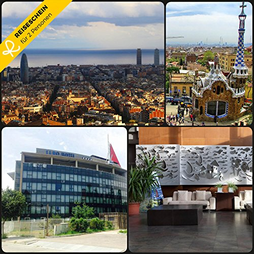 Reiseschein - 3 Tage für 2 Personen im 4**** Eurohotel Gran Via Fira in Barcelona erleben - Hotelgutschein Gutschein Kurzreise Kurzurlaub Reise Geschenk