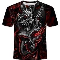 T Shirts Mens Summer Color Printing Flying Eagle Digital Printing Short Sleeve Men and Women Casual Loose Top