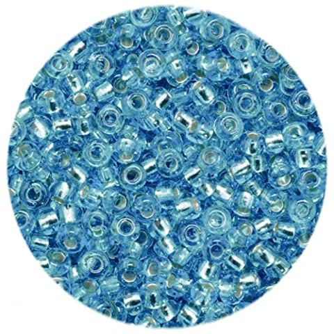 Efco 10222463,5mm 17g Perles indiennes métallisées, bleu azur