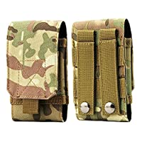 YOIL Practical Sports Supplies Tools Tactical Military Pouch Army Waist Universal Climbing Holster Mobile Phone Belt Pouch Case Cover (Camouflage)