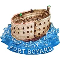 Aimant de réfrigérateur 3D Fort Boyard France - Souvenir - Collection cadeau - Décoration de maison ou de cuisine