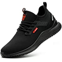 Safety Shoes for Men Women Work Shoes Steel Toe Caps Work Trainers Shoe Lightweight Breathable Industrial Sneakers