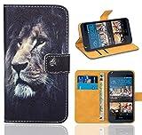 FoneExpert® HTC Desire 626 626G Handy Tasche, Wallet Case Flip Cover Hüllen Etui Ledertasche Lederhülle Premium Schutzhülle für HTC Desire 626 626G (Pattern 4)