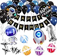 Innoo Tech Space Party Supplies - Outer Space Party Decorations Solar System Happy Birthday Banner Rocket Ball