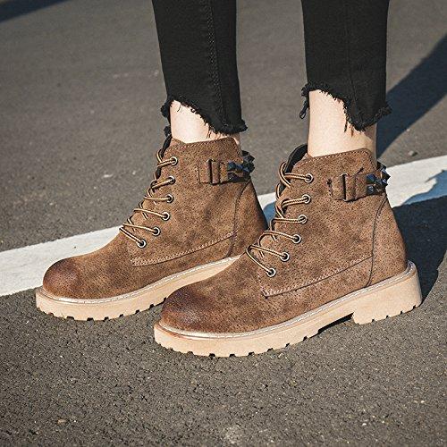 FLYRCX In autunno e in inverno la personalità di moda Martin stivali lady plus piatto caldo di velluto antiscivolo per scarpe C