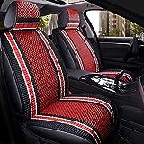 Housse de siège Tissu Respirant Airbag Compatible Universal, Ensemble Complet de 5 Coussins de Confort Avant et arrière (Color : Black Red)