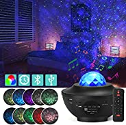 Star Projector Night Light, Adjustable Starry Projector with 21 Lighting Modes with Remote control& Built-