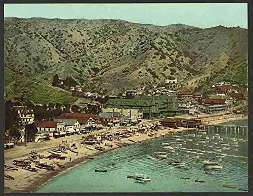 Photo The beach at Avalon Santa Catalina Island Cal A4 10x8 Poster Print - Avalon, Santa Catalina Island