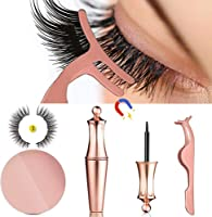 MOGOI False Eyelashes Kit With Magnetic False Eyelashes, Magnetic Eyeliner And Eyelashes Tweezers, No Glue Full Eye 5...