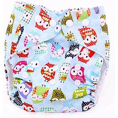 Baby Cloth Diaper Bag w/ Animals and Flowers Pattern Beige - Blu Potty