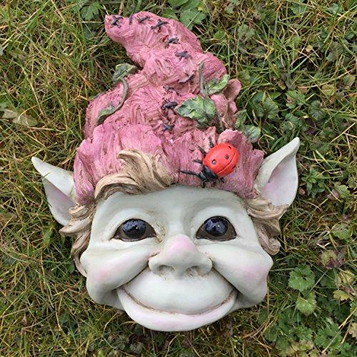 Grande plaque murale Pixie visage - Décor de jardin Intérieur ou extérieur Unique Fée Clochette Elfe Cadeau.