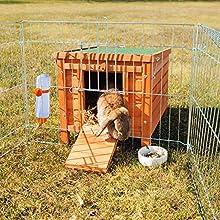Trixie Natura House, for Rabbits, 42 ラ 43 ラ 51 cm