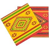 Boland 54411–Lot de 12Serviettes Fiesta Mexico, 33x 33cm, Multicolore