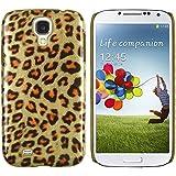Gelb Leopard hard Back Case Cover Tasche Hülle Etui für Samsung Galaxy S4 i9500